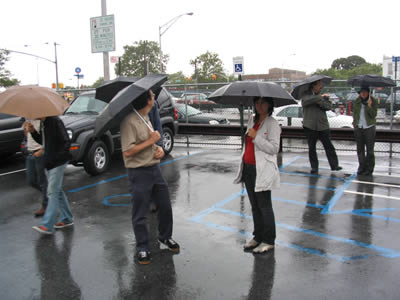 Touring the Grant Field Muncipal Lot in Brooklyn
