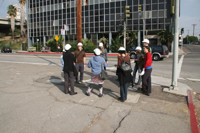 Tour group in the Illinois Medical District HQ, photo by Mark Cooley